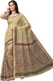 Suhanee Printed Gadwal Cotton Saree (Bei...
