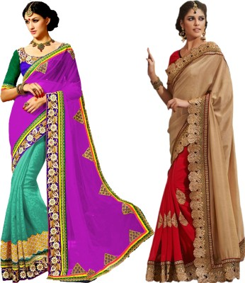 MAA CREATION Solid Fashion Jute Sari