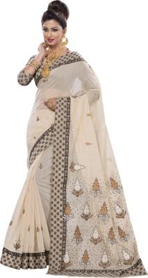Aara trendz Embriodered Fashion Cotton Sari