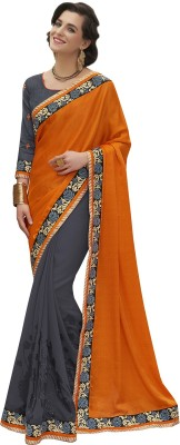 MelluhaFashion Embriodered Fashion Silk Sari