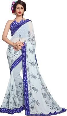Jiya Self Design, Printed Fashion Chiffon Sari