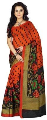 Hanscreation Floral Print Daily Wear Art Silk Sari