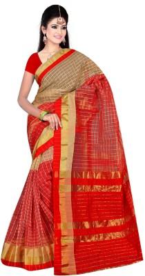 Kajal Syntex Embellished Banarasi Organza Sari