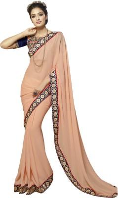 Hawwah Self Design Bollywood Polyester Sari