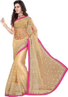 Jhenny Fabrics Embriodered Fashion Handloom Net Sari