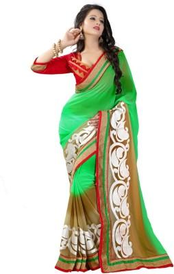 KRUPALI FASHION Embriodered Bollywood Georgette Sari