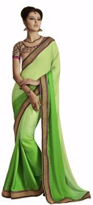 Looks & Likes Self Design Fashion Handloom Crepe Sari