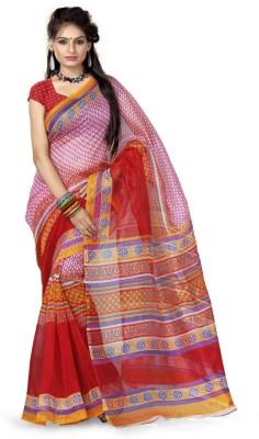 Adah Fashions Printed Daily Wear Net Sari