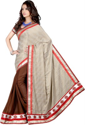 Aryansh Designers Self Design Bhagalpuri Georgette Sari
