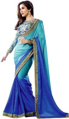 Kia Fashions Solid Bollywood Georgette Sari