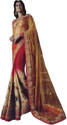 Shop Plaza Embriodered Daily Wear Viscose Sari
