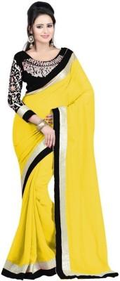 The Color Tex Self Design Bollywood Georgette Sari