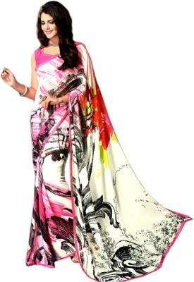 Ganghs Floral Print, Digital Prints Bollywood Georgette Sari