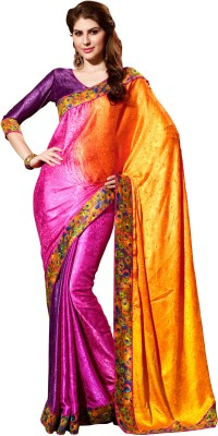 Jiya Self Design, Printed, Embellished Fashion Silk, Crepe, Jacquard Sari