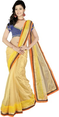 Vani Creations Embriodered Fashion Handloom Net Sari