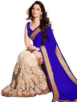 Jannat Creation Embriodered Fashion Georgette Sari