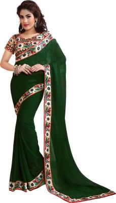 Granth Solid Bollywood Georgette Sari