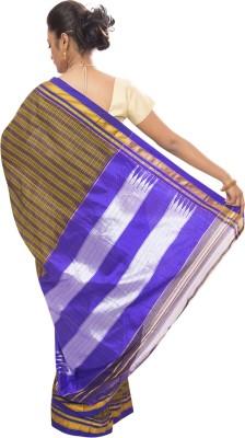 Dhammanagi Striped, Woven Ilkal Handloom Pure Silk Sari