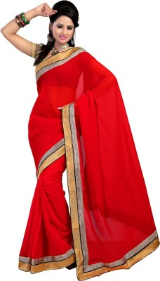 Abcd Creations Self Design Bollywood Georgette Sari