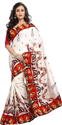 Crafts N Culture Embriodered, Woven Fashion Silk Sari