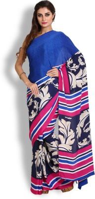 Kasturi-B Swadeshi Karigari Geometric Print Fashion Handloom Crepe Sari