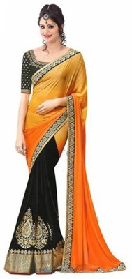 PareeDil Embriodered Fashion Chiffon Sari