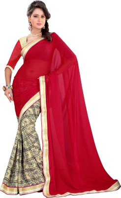 Prafful Floral Print Fashion Georgette Sari