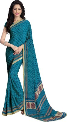 Velvetic Printed Fashion Crepe Sari