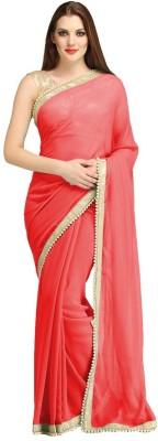 Trendz Fashion Plain Bollywood Georgette Sari