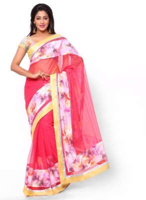 Ziyaa Solid Fashion Net, Crepe Sari
