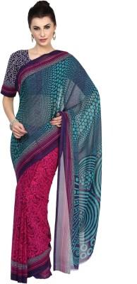 Aagamanfashion Printed Fashion Synthetic Georgette Sari