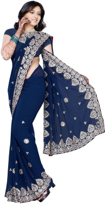 Dealtz Fashion Self Design Fashion Chiffon Sari