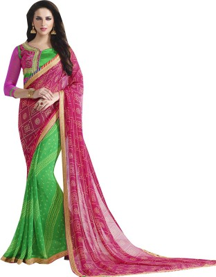 Shaily Retails Embellished Fashion Georgette Saree(Multicolor) at flipkart