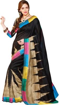 Click India Floral Print Bhagalpuri Art Silk Sari