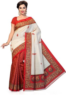 MCS. Printed Fashion Art Silk Sari