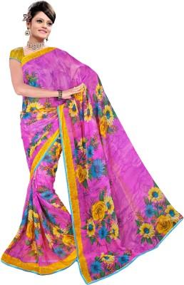 Ratnapriya Sarees Floral Print Fashion Synthetic Chiffon Sari