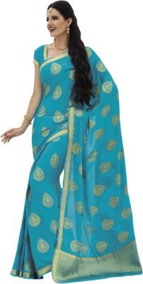 Fashiontra Self Design Fashion Chiffon Sari