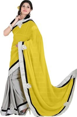 Varnilifestyle Embriodered Fashion Chiffon Sari