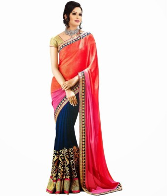 ambe fashion Embriodered Bollywood Georgette Sari