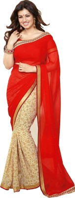 Roots4creation Self Design Bollywood Georgette Sari