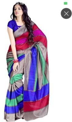 Jignesh Mangukiya Self Design Bhagalpuri Art Silk Sari
