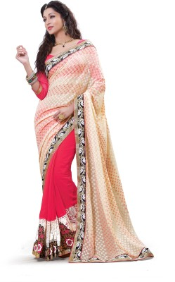 Laajjo Embriodered Fashion Net, Chiffon Sari