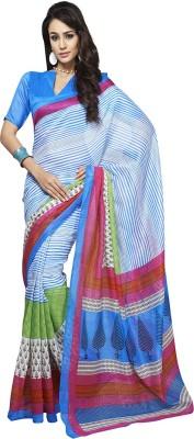 Gerbera Designer Printed Bhagalpuri Art Silk Sari