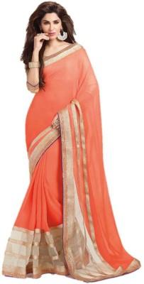 Suchi Fashion Plain Fashion Chiffon, Net Sari