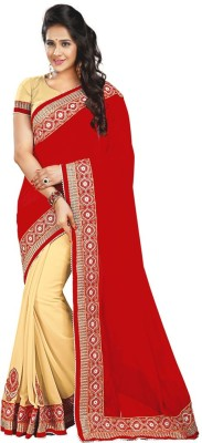Jhilmil Fashion Embriodered Fashion Handloom Georgette Sari