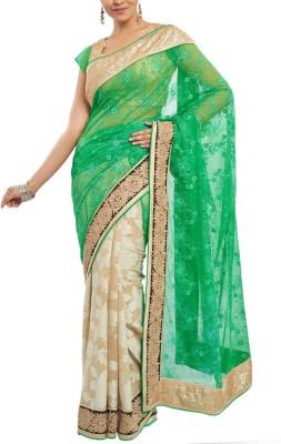 Estri Self Design Fashion Net, Khadi Sari