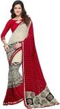 PSHOPEE Printed Fashion Chiffon Saree (R...