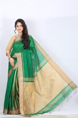 Badhu Baran Plain Tant Cotton Sari