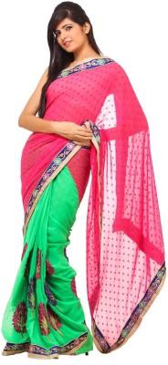 365 Labels Self Design Fashion Georgette Sari