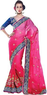 Suchi Fashion Embriodered Fashion Georgette, Satin Sari